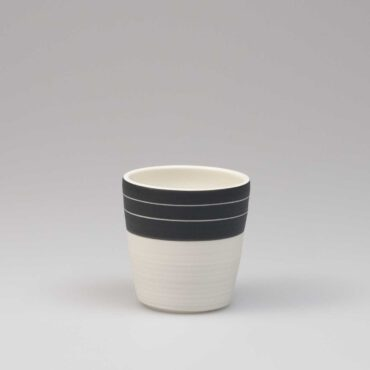 porcelain espresso cup black & white