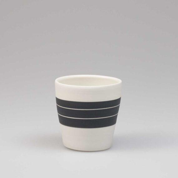 porseleinen espresso kopje black & white
