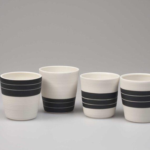porseleinen espresso kopjes black & white