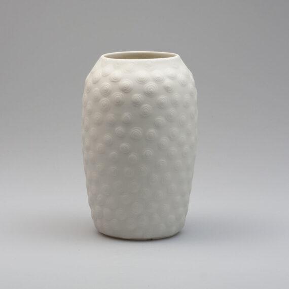 porcelain vase saturn handmade white