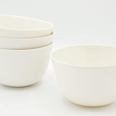 handmade porcelain muesli bowls