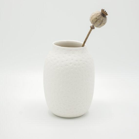 handmade porcelain vase moon