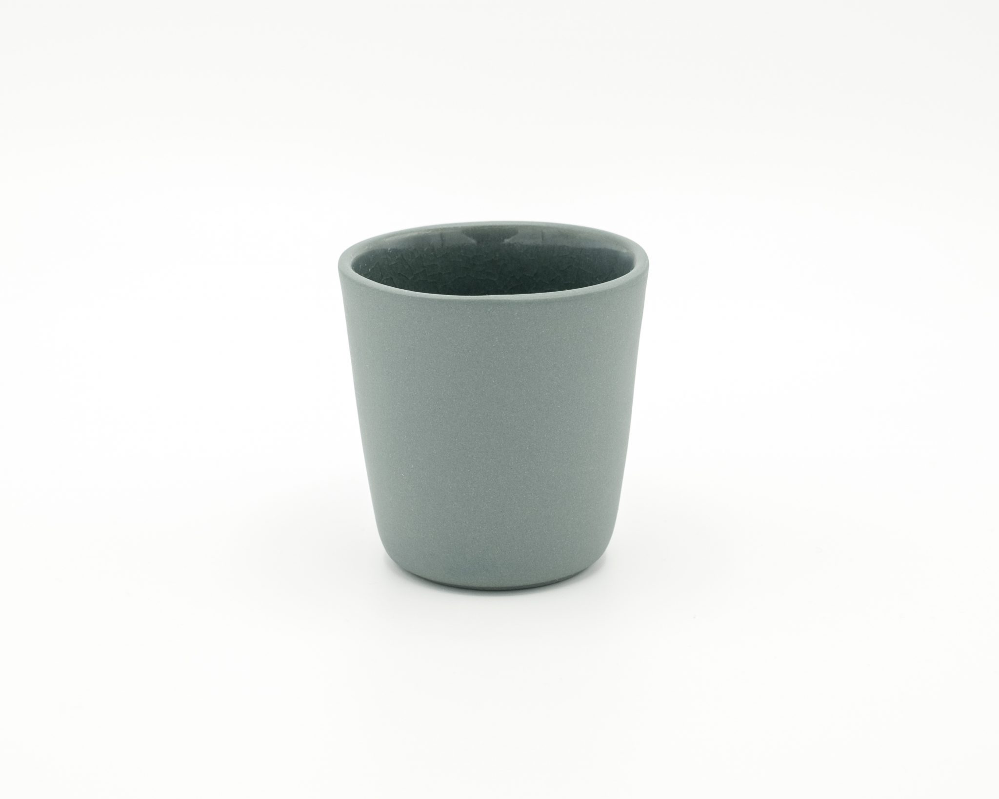 handmade porcelain espresso cup recycled