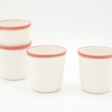 porcelain espresso pink rim