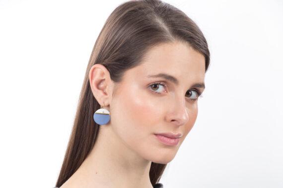 handmade porcelain earrings horizon blue L