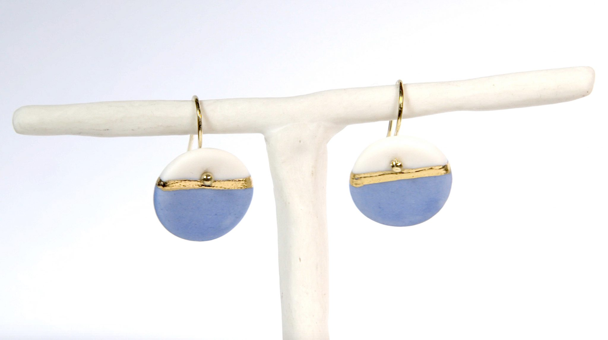 Earrings 'GOLDEN HORIZON' medium blue [E-GH-M-bl]