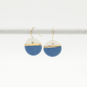 horizon blue porcelain earrings