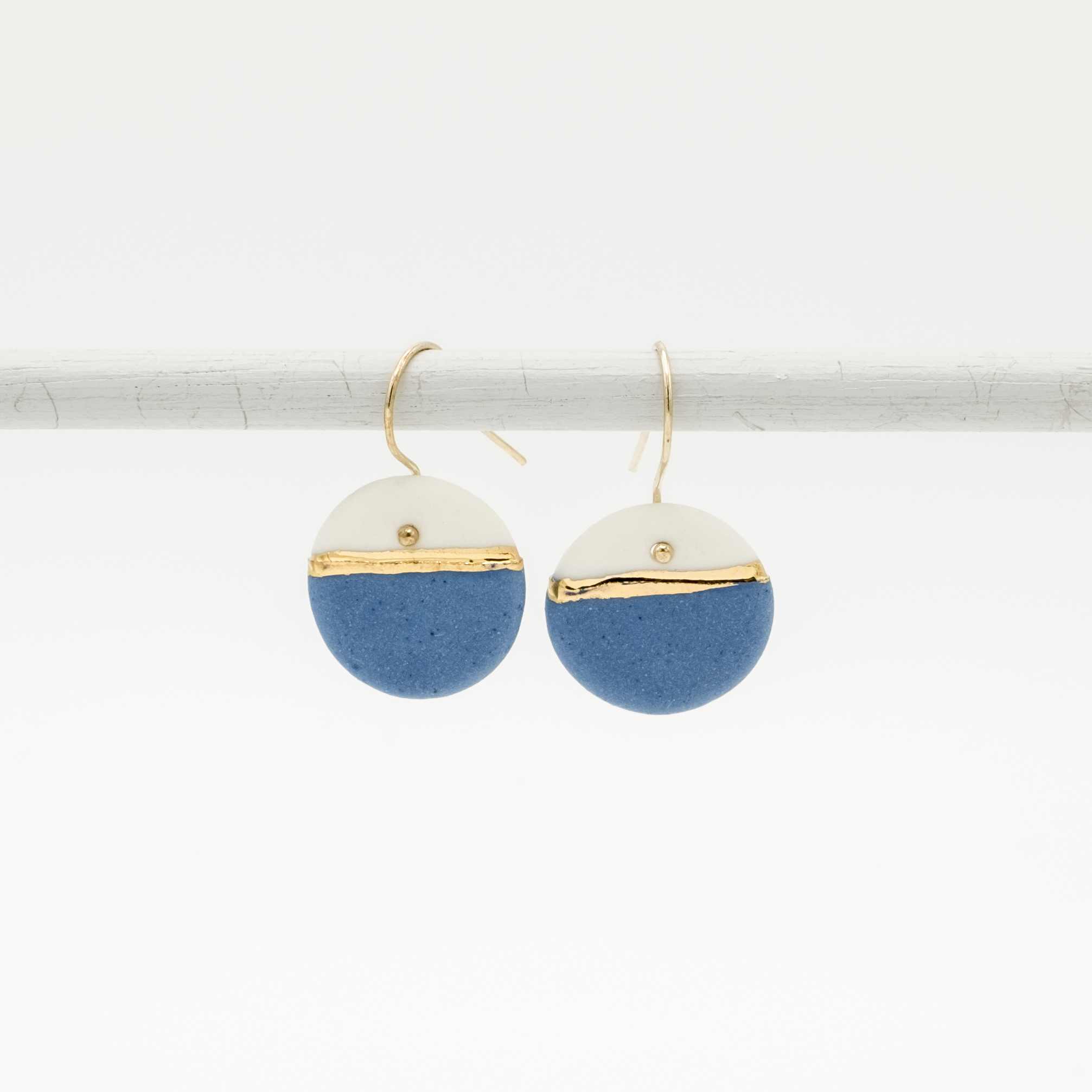 horizon blue porcelain earrings