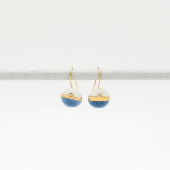 handmade porcelain earrings blue