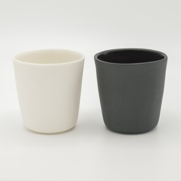handmade espresso cup black and white