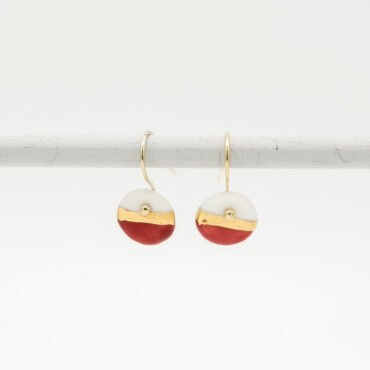handmade porcelain earrings red horizon size s