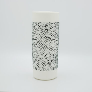 "Handmade porcelain vase 'long neck"" from our 'DOTS' collection in black"