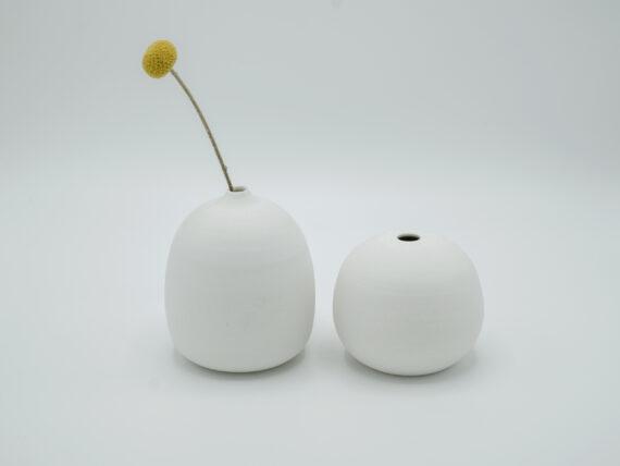 one flower vase white wheel thrown porcelain
